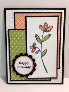 Mother's Love, Birthday Card, Stampin' Up!, Rubber Stamping, Handmade Cards, Mother's Day Card