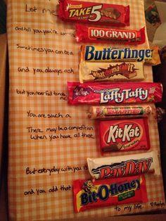 Candy bar birthday present