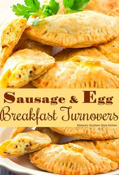 Sausage And Egg Breakfast Turnovers 1 14 oz box refrigerated pie crusts . Breakfast Pie, Southern Breakfast, Breakfast Pastries, Best Breakfast Recipes, Breakfast Items, Sausage Breakfast, Breakfast Dishes, Breakfast Casserole, Breakfast For Kids