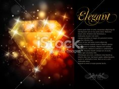 Promotion Card with Elegant Preciuos Gem Royalty Free Stock Vector Art Illustration