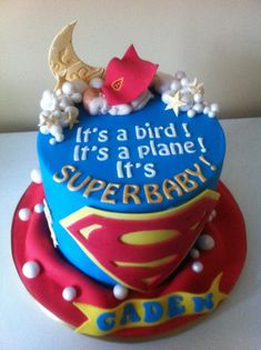 superman baby cakes - Google Search