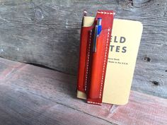 SALE Tan Canyon Leather Field Notes Notebook Cover, Gift Idea, Personalized Gift, Ready to Ship