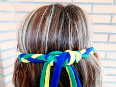 Fashion for the World cup 2014 in Brazil. Handmade braided world cup headband for women. Made from chunky cotton yarn, ideal for summer. Available in more colors, check it out! Handmade by COLOROGY. #WorldCup2014 #Brazil2014