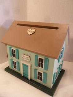 Wedding Card Box Birdhouse With Heart Carved Tree Via Etsy