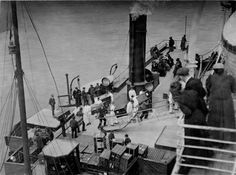 Trunks being carried onto the titanic, april 11, 1912