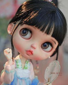 No photo description available. Pretty Dolls, Beautiful Dolls, Ooak Dolls, Blythe Dolls, Mery Crismas, Anime Dolls, Doll Repaint, Little Doll, Custom Dolls