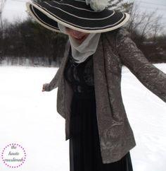 haute muslimah modest fashion hijab styles trends hat long maxi dress black lace sparkly sequin jacket blazer white scarf vintage hat oasis wardrobe stylehouse pr