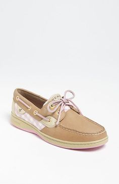 Shoes: Printed Rose Pink Sperrys
