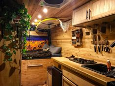 The best wooden vanlife interior I've seen! Neat layout of this campervan conversion with tons of storage and lots of cool ideas. Adventure ready!