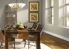 DINING ROOM BEST NEUTRAL GREEN EVER This is the project I created on Behr.com. I used these colors: CELERY POWDER(PPU8-18),
