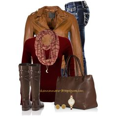 """SABI Leather Jacket"" by shannonmarie-94 on Polyvore"