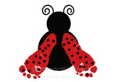 Ladybug Nursery Decor - Baby Footprint Personalized Kids Wall Art - Girl's Room in Red - Childrens Playroom Decor - Waldorf Nursery. $30.00, via Etsy.