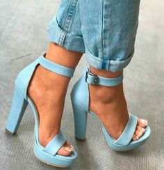 "Nothing makes your look stand out more than the perfect blue heels! High Heels Your ""True Blue"" Heels For Any Occasion Stilettos, Pumps Heels, Stiletto Heels, Prom Heels, High Heel Pumps, Platform Pumps, Women's Shoes, Me Too Shoes, Shoe Boots"