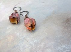 ON TEMPORARY HOLD opening up..Artisan Earrings by greybirdstudio