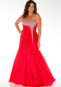 2015 Chiffon Sweetheart Blue Crystals Lace Up Red Ruched Sleeveless Mermaid Homecoming / Plus Size Dresses Fabulouss 64473