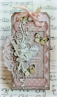 Hang Tags Valentines Day Mixed Media Tags 5 Shabby Pink Tags Vintage Lace Tag kraft lace rustic gift tag Vintage Tags