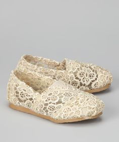 Slide any little one into these super-comfy crocheted shoes for style that's casual and cool. A fabric upper combines with a round-toe silhouette while the lace-free design makes for effortless changing.Man-made upperTraction soleImported