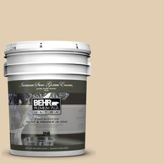 BEHR Premium Plus Ultra Home Decorators Collection 5-gal. #hdc-AC-09 Concord Buff Semi-Gloss Enamel Interior Paint