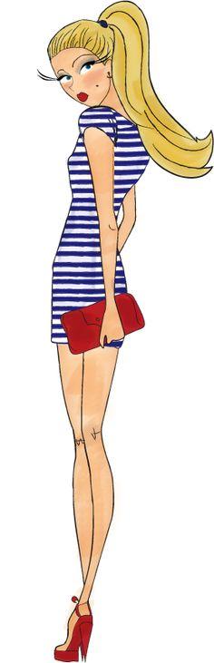 Ohé matelots ! dessiné pour le blog talons aiguilles et bottes de cuir