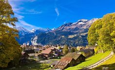 The Alpine views and timber chalets of Wengen, Switzerland, have been attracting travelers since the late 1800s. (From: Photos: Beautiful Villages Around the World)