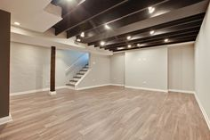If you have a basement with a low ceiling, you may need some basement ceiling ideas to make it look higher. Some basement design has a standard high of a ceiling but it also feels a bit low for some… Exposed Basement Ceiling, Dark Ceiling, Basement Windows, Basement House, Basement Plans, Basement Bedrooms, Basement Apartment, Basement Bathroom, Basement Ceiling Painted