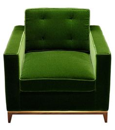 Minx Chair - Mid-Century / Modern Metal, Upholstery / Fabric Armchair by Amy Somerville   London