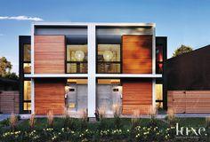 Modernist Duplex Front Exterior