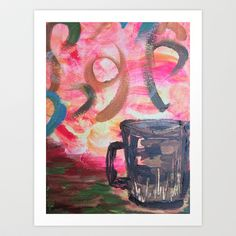 Coffee Anyone? by Stephanie Cole CREATIONS as a high quality Art Print. Worldwide shipping available at Society6.com. Just one of millions of products… #latte #steam #creamandsugar #coffeebreak #mug #coffeecup #abstract #art #canvas #acrylic #painting