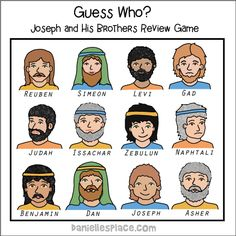 Guess Who? Joseph and His Brothers Bible Review Game