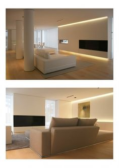 Find ideas for your home with these living room lighting ideas. House Design, Interior, Hidden Lighting, Interior Lighting, House Interior, Living Room Lighting, Home Interior Design, Interior Design, Modern Interior