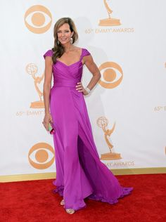 """Alison Janney - Now this is a slammin' gown on a stunning """"54 is the new HOT woman"""".  The whole thing works."""