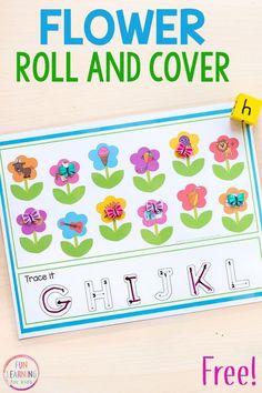 Spring flower theme math and literacy activities for kindergarten and preschool. #springactivities #springcenters #mathcenters #literacycenters #preschool #kindergarten