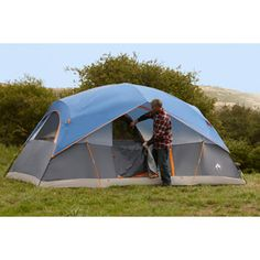 Ozark Trail 8-Person Dome Tent  sc 1 st  Pinterest & Ozark Trail 6-Person Tent 12u0027 x 8u0027 SLEEPS 3 w mattresses 4 w ...