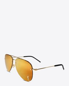 0796f7252444 monogram m11 sunglasses in shiny gold and gold metal with bronze mirrored  lenses