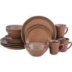 SANGO Comet Sienna 16 piece Dinnerware Set - Home - Dining u0026... (  sc 1 st  Pinterest & Sango Blossom Black 16-piece Dinnerware Set (Stoneware ($60 ...