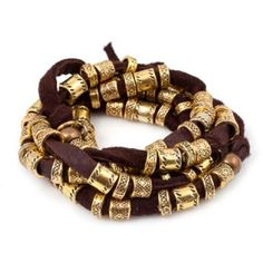 Vanessa Mooney Harmony Wrap in Brown ($68) ❤ liked on Polyvore featuring jewelry, bracelets, accessories, brown, leather jewelry, vanessa mooney jewelry, bead jewellery, beaded jewelry and wrap jewelry