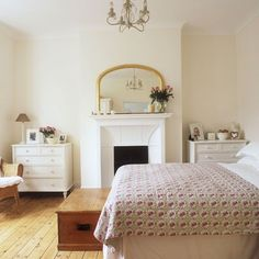Arched mirror. Simple beauty.   Traditional country bedroom | Country bedrooms - 10 of the best | housetohome.co.uk