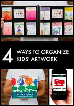 Do you have artwork overload? Here's a quick rundown of some children's artwork storage solutions.