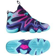 quality design 2c339 90aac ADIDAS CRAZY 8 AQ8463 PURPLE BASKETBALL PERFORMANCE  137 Purple, Blue,  Basketball Sneakers,
