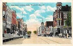 Winchester Kentucky KY 1920s Main Street South Antique Vintage Postcard Winchester Kentucky KY 1920s Town on Main Street South with Citizens National Bank in right foreground. Unused E. C. Kropp vinta Main Street, Street View, Lexington Avenue, Clark County, My Old Kentucky Home, Ol Days, Vintage Postcards, Winchester, 1920s