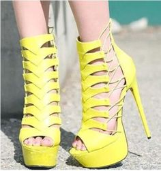 78.85$  Buy now - Top Selling Sexy Fashion High Platform Stiletto Heel Cut-Outs Women Sandals Party Dress Shoes Size 34 to 42 Ankle Summer Boots  #aliexpresschina