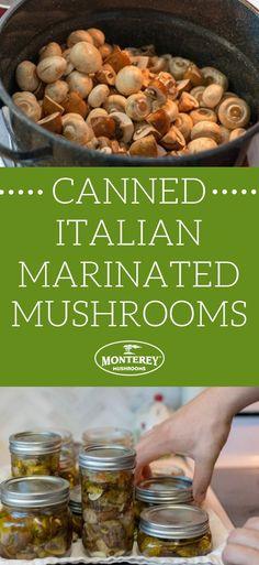 Pickled Mushrooms Recipe, Marinated Mushrooms, Stuffed Mushrooms, Pressure Canning Recipes, Home Canning Recipes, Pressure Cooking, Easy Canning, Canning Tips, Veggies