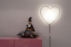 Lámpara corazón gris BUOKIDS