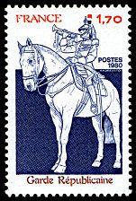 Garde républicaine - Timbre de 1980