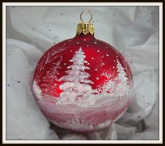 Check out this item in my Etsy shop https://www.etsy.com/listing/251337332/winter-scene-red-ornament-white-trees