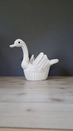 Items similar to Large Vintage Wicker Swan Basket Planter on Etsy Shabby Chic Cottage, Shabby Chic Homes, Crochet Butterfly, Basket Planters, Vintage Home Decor, Swan, Wicker, Unique Jewelry, Handmade Gifts