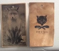 Hand Tea-stained hangtags for Fox & Tail