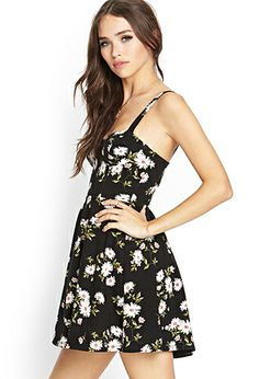 Flower Flared Knit Dress | FOREVER 21 - 2000127201