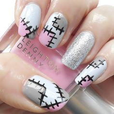50 Frightening and Fun Halloween Nail Art Designs You Can Do Yourself Manicure, Gelish Nails, Diy Nails, Classy Nail Designs, Beautiful Nail Designs, Nail Art Designs, Cute Nail Art, Cute Nails, Pretty Nails