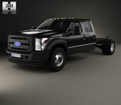 Ford F-550 Crew Cab Chassis 2010 3d model from Humster3D.com.